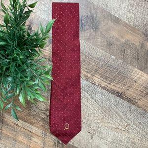 Men's Tommy Hilfiger 100% Silk Red Tie